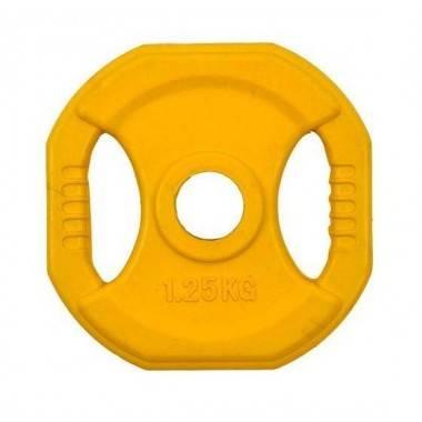 Obciążenie gumowane kwadrat INSPORTLINE 1.25kg- średnica: 31mm,producent: INSPORTLINE, photo: 1