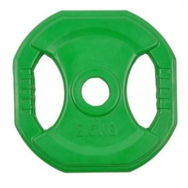 Obciążenie gumowane kwadrat INSPORTLINE 2.5kg- średnica: 31mm,producent: Insportline, zdjecie photo: 1   online shop klubfitness
