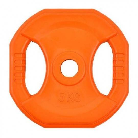 Obciążenie gumowane kwadrat INSPORTLINE 5kg- średnica: 31mm,producent: INSPORTLINE, photo: 1