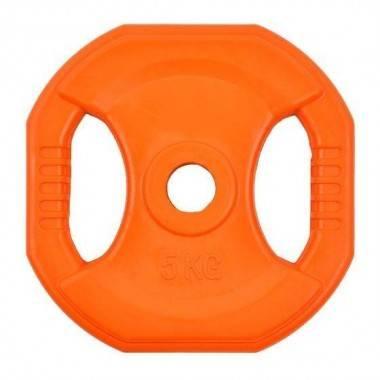 Obciążenie gumowane kwadrat INSPORTLINE 5kg- średnica: 31mm,producent: Insportline, zdjecie photo: 1 | online shop klubfitness.p