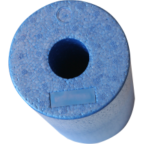 Roller wałek do masażu BodyLastics Ø15x32cm | EPP | niebieski Bodylastics - 2 | klubfitness.pl