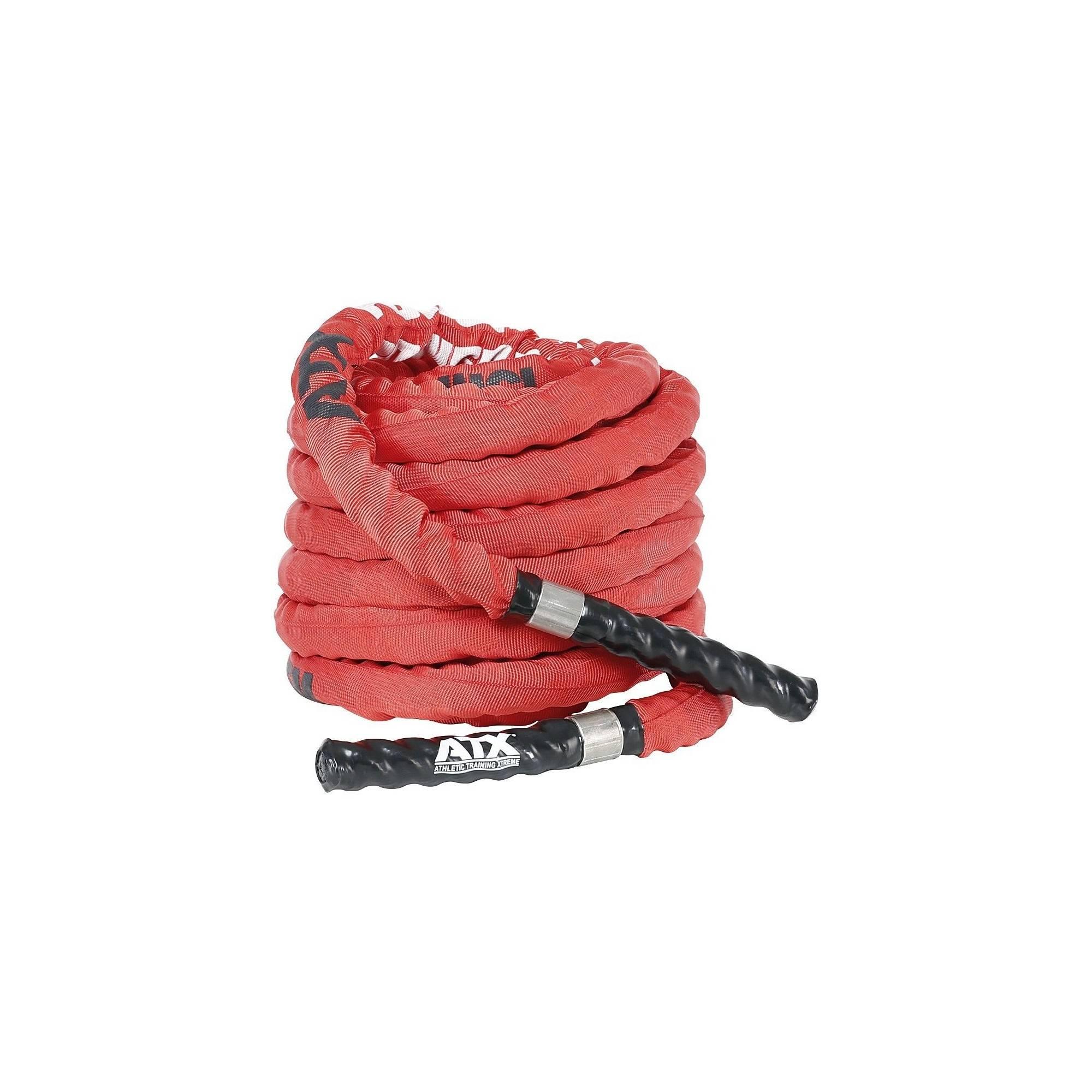 Lina nylonowa crossfit ATX® TAU-NPR-15M | długość 15m | czerwona ATX - 1 | klubfitness.pl | sprzęt sportowy sport equipment