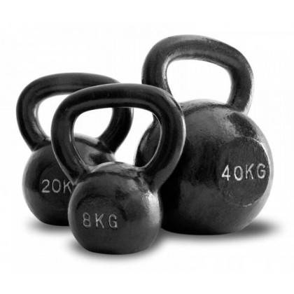Hantla żeliwna kettlebell 40 kg SPARTAN SPORT czarna SPARTAN SPORT - 2 | klubfitness.pl | sprzęt sportowy sport equipment