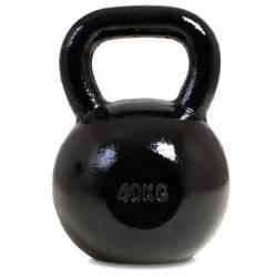 Hantla żeliwna kettlebell 40 kg SPARTAN SPORT czarna SPARTAN SPORT - 2 | klubfitness.pl