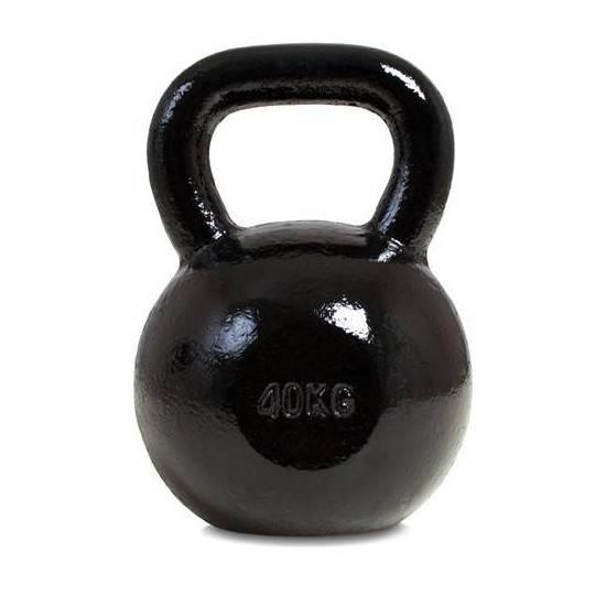 Hantla żeliwna kettlebell 40 kg SPARTAN SPORT czarna,producent: SPARTAN SPORT, photo: 1