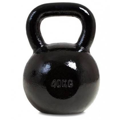 Hantla żeliwna kettlebell 40 kg SPARTAN SPORT czarna SPARTAN SPORT - 1 | klubfitness.pl | sprzęt sportowy sport equipment