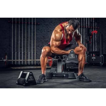 Hantle stałe żeliwne ATX® Delta   zestaw 9 par   waga: 4kg ÷ 20kg,producent: ATX, zdjecie photo: 11