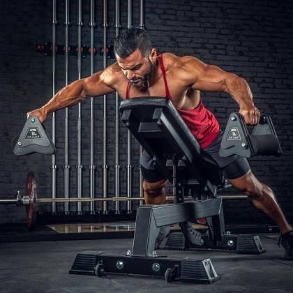 Hantle stałe żeliwne ATX® Delta   zestaw 9 par   waga: 4kg ÷ 20kg,producent: ATX, zdjecie photo: 12