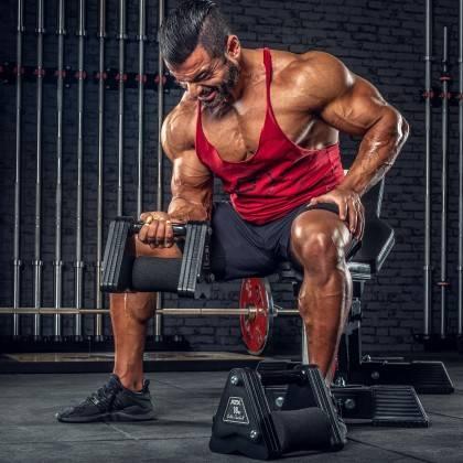 Hantle stałe żeliwne ATX® Delta   zestaw 9 par   waga: 4kg ÷ 20kg,producent: ATX, zdjecie photo: 13