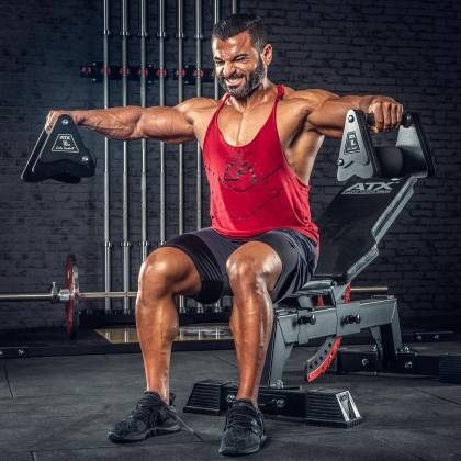Hantle stałe żeliwne ATX® Delta   zestaw 9 par   waga: 4kg ÷ 20kg,producent: ATX, zdjecie photo: 14