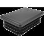 Zaślepka wewnętrzna prostokątna 40x60mm | czarna NONAME - 1 | klubfitness.pl