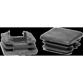 Zaślepka wewnętrzna kwadratowa 25x25mm | czarna NONAME - 1 | klubfitness.pl