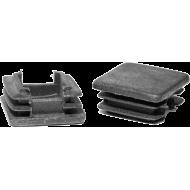 Zaślepka wewnętrzna kwadratowa 25x25mm   czarna,producent: NONAME, zdjecie photo: 1