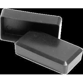 Zaślepka nakładana prostokątna 40x20mm | czarna NONAME - 1 | klubfitness.pl