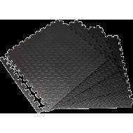 Mata amortyzująca puzzle EB Fit 61x61cm 12mm | 4 puzzle black EB FIT - 2 | klubfitness.pl | sprzęt sportowy sport equipment