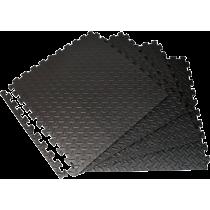 Mata amortyzująca puzzle EB Fit 61x61cm 12mm | 4 puzzle black,producent: EB FIT, zdjecie photo: 2 | online shop klubfitness.pl |