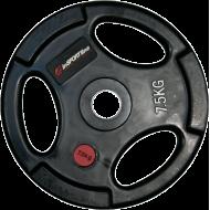 Obciążenie gumowane Insportline 7,5kg | 30,5mm | czarne,producent: Insportline, zdjecie photo: 1