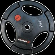 Obciążenie gumowane Insportline 15kg | 30,5mm | czarne,producent: Insportline, zdjecie photo: 1