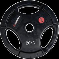 Obciążenie gumowane Insportline 20kg | 30,5mm | czarne Insportline - 1 | klubfitness.pl