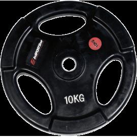 Obciążenie gumowane Insportline 10kg | 30,5mm | czarne,producent: Insportline, zdjecie photo: 1 | online shop klubfitness.pl | s