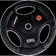 Obciążenie gumowane Insportline 10kg | 30,5mm | czarne,producent: Insportline, zdjecie photo: 1