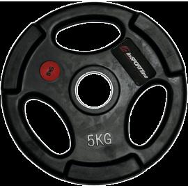 Obciążenie gumowane Insportline 5kg | 30,5mm | czarne Insportline - 1 | klubfitness.pl | sprzęt sportowy sport equipment