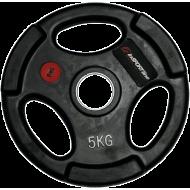 Obciążenie gumowane Insportline 5kg | 30,5mm | czarne,producent: Insportline, zdjecie photo: 1