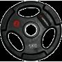 Obciążenie gumowane Insportline 5kg | 30,5mm | czarne Insportline - 1 | klubfitness.pl