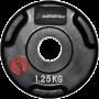 Obciążenie gumowane Insportline 1,25kg | 30,5mm | czarne,producent: Insportline, zdjecie photo: 1 | klubfitness.pl | sprzęt spor