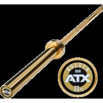 Gryf olimpijski prosty 220cm ATX® LH-50-ATX-GOLD | Powerlifting Bar ATX® - 1 | klubfitness.pl