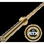 Gryf olimpijski prosty 220cm ATX® LH-50-ATX-GOLD | Powerlifting Bar ATX - 1 | klubfitness.pl | sprzęt sportowy sport equipment