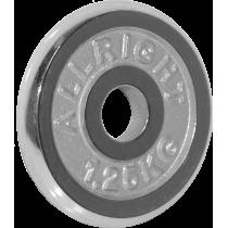 Obciążenie żeliwne chromowane Allright 1,25kg | 31mm ALLRIGHT - 1 | klubfitness.pl