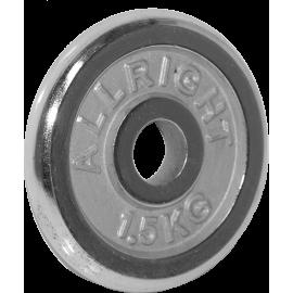 Obciążenie żeliwne chromowane Allright 1,5kg | 31mm ALLRIGHT - 1 | klubfitness.pl | sprzęt sportowy sport equipment