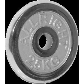 Obciążenie żeliwne chromowane Allright 2,5kg | 31mm ALLRIGHT - 1 | klubfitness.pl | sprzęt sportowy sport equipment