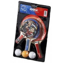 Zestaw do gry w tenisa stołowego JOOLA TRIPLE BAT trzy paletki, trzy piłeczki Joola - 1 | klubfitness.pl