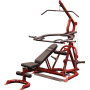 Atlas do ćwiczeń na wolne obciążenia Body-Solid GLGS100P4 czerwony Body-Solid - 6 | klubfitness.pl