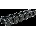 Hantla stała żeliwna CHD® CHD-G-2 | 4kg ÷ 80kg | wzrost wagi co 2kg CHD® | California Heavy Duty - 1 | klubfitness.pl