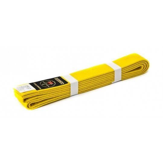 Pas do kimona Bushindo   żółty   długość 220cm - 300cm Bushindo - 1   klubfitness.pl