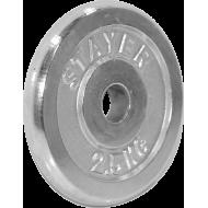 Obciążenie żeliwne chromowane Stayer Sport 2,5kg | 29mm Stayer Sport - 1 | klubfitness.pl | sprzęt sportowy sport equipment