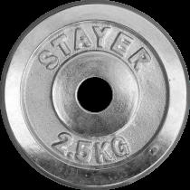 Obciążenie żeliwne chromowane Stayer Sport 2,5kg | 29mm Stayer Sport - 2 | klubfitness.pl | sprzęt sportowy sport equipment