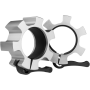 Zaciski szczękowe olimpijskie HMS LOCK JAW ZG1500 | srebrne | aluminiowe HMS - 1 | klubfitness.pl | sprzęt sportowy sport equipm