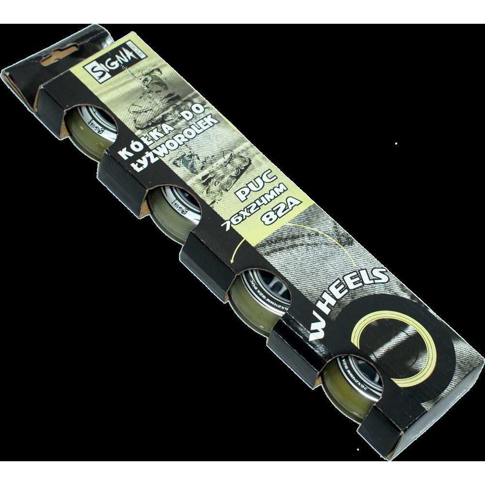 Kółka do rolek Signa PUC 76x24mm 82A | kauczukowe,producent: Signa, zdjecie photo: 1 | online shop klubfitness.pl | sprzęt sport