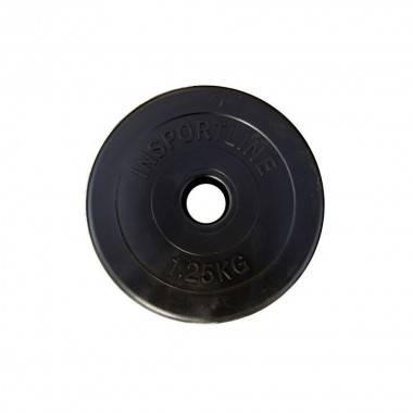 Obciążenie cementowe INSPORTLINE 1,25kg średnica 30 mm czarne,producent: Insportline, zdjecie photo: 1 | online shop klubfitness
