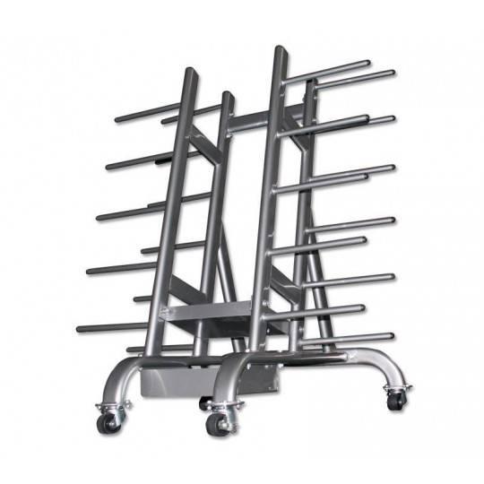 Stojak na zestawy body pump Ironsports R-3090 silver | na 30 zestawów IRONSPORTS - 2 | klubfitness.pl