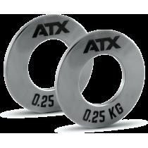 Obciążenia stalowe olimpijskie fractional ATX® FRP-ST | waga: 0,25kg ÷ 1,0kg ATX® - 4 | klubfitness.pl