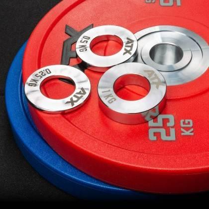 Obciążenia stalowe olimpijskie fractional ATX® FRP-ST | waga: 0,25kg ÷ 1,0kg ATX® - 9 | klubfitness.pl