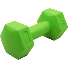 Hantla fitness cementowa Stayer Sport Hex 1kg | bitumiczna,producent: Stayer Sport, zdjecie photo: 1 | online shop klubfitness.p