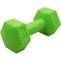 Hantla fitness cementowa Stayer Sport Hex 1kg | bitumiczna Stayer Sport - 1 | klubfitness.pl