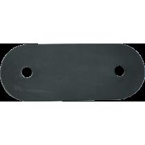 Gumowy odbój płaski | 250x95x6,5mm | otwory 2x Ø19,3mm NONAME - 1 | klubfitness.pl
