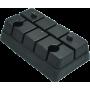 Podstopień stepa do aerobiku | czarny | 37,5x22,5x11,5cm NONAME - 1 | klubfitness.pl